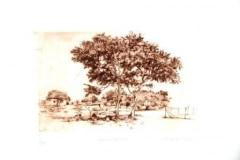 Abe Mathabe, Her destination, drypoint, Zuid-Afrika, iZarte