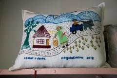 Embroidered story panel, Mogalakwena, 2018