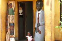 wooden sculptures, house, Johannes Maswangany, Limpopo, 2009