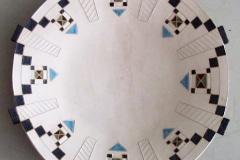 Afrikania, Big Art Plate, clay, Phalaborwa, Zuid-Afrika, iZArte Kunstreizen