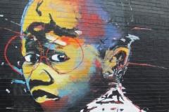 Mural by Nelson Makamo, Maboneng, Johannesburg, Zuid-Afrika, iZArte Kunstreizen