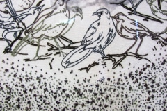 Embroidered art  panel by Mogalakwena