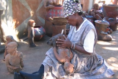 Noria Mabasa, artist, sculptures clay and wood, Limpopo, South Africa