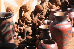 Clay sculptures Noria Mabasa, Limpopo, Sputh Africa