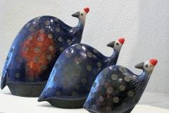 Porcupine Ceramics, Guinea Fowls, Raku Keramiek, Plettejburg, Zuid-Afrika