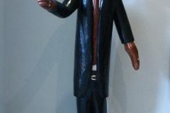 Mandela, Johannes Maswanganyi, Lead Wood, 130x50x48cm