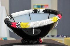 Zulu Bowl, Art Glass, Studio Emmanuel,Frank van den Ham, Magaliesberg, Zuid-Afrika