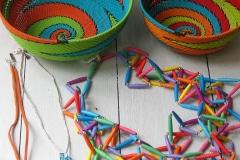 Hanan Yanny, jewellery, Zenzulu, telephone wire baskets, Zuid-Afrika