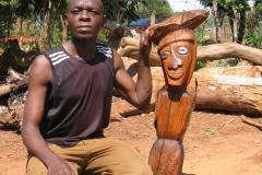 Lucky Makamu, sculptor, Angel, wood, Limpopo, Zuid-Afrika