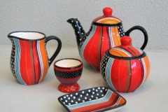 Cups Teapot etc, Potter's Workshop, Muizenberg, Zuid-Afrika