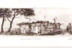 Abe Mathabe, Home Sweet Home, dry point, Zuid-Afrika, iZArte