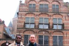 Abe Mathabe (South Africa) en  Wim van der Meij (Nederland), in Zutphen, commision Ruiter Kortegaerd, Galerie  iZArte