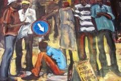 Charles-Kamangwana, painting, Food crisis, Zimbabwe