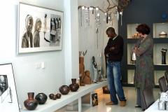 Nelson Makamo, bij Galerie iZArte in 2008, tentoonstelliing, kunstuitwisseling