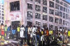 Charles-Kamangwana, painting, Harare, Zimbabwe