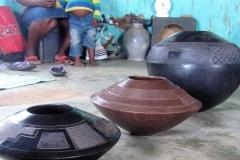 with the Nala's, Zulu potters, KwaZuluNatal, iZArte Kunstreis