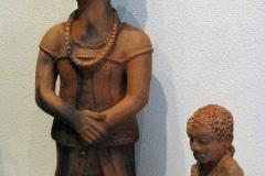 Noria Mabasa, Clay Sculptures, South African artist, Limpopo, Zuid-Afrika, iZArte Kunstreizen