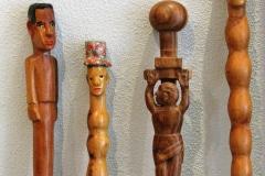 Wandelstokken, chiefsticks, Venda kunstenaars, Limpopo, Zuid-Afrika