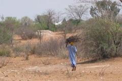 vrouw langs de weg in Botswana, iZArte Kunstreizen