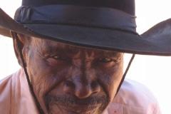 Pedi man, bij Mogalakwena in de buurt, Limpopo, Zuid-Afrika, iZArte Kunstreizen