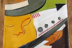 Andile Dyalvane, ceramic art tile, 2005, Imiso, Kaapstad