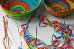 Hanan Yanny, jewellery, Zenzulu, telephone wire baskets, Zuid-Afrika